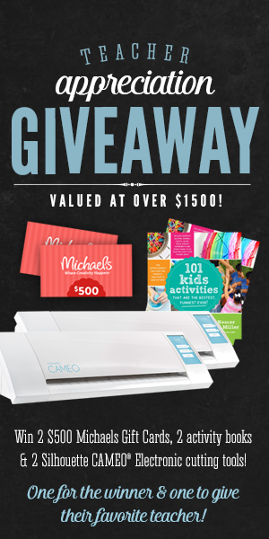 An awesome teacher appreciation giveaway for you and your favorite teacher!