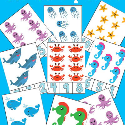 Free Ocean Count and Clip Cards