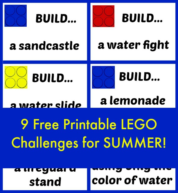 Summer LEGO Challenges for Kids! Free printable!