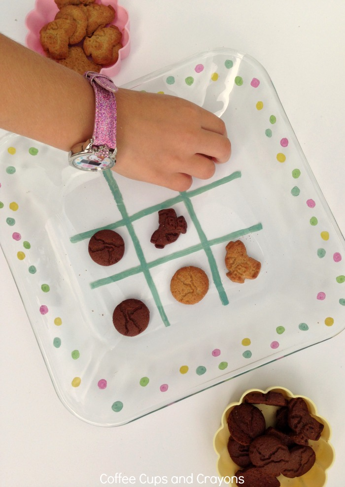 TIC TAC TOE Snack Plate for Kids! Or should I say TIC SNACK TOE