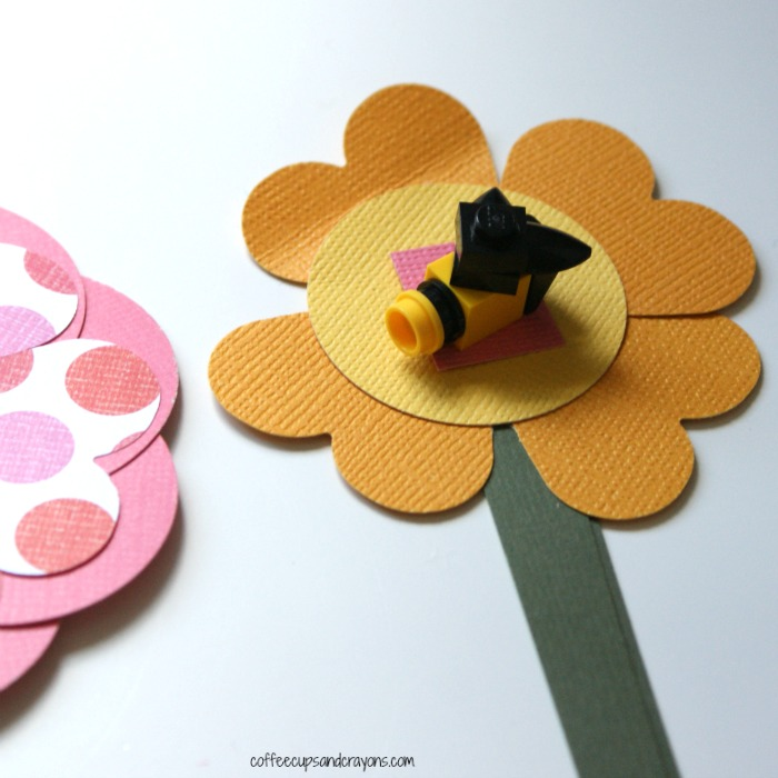 LEGO bee on flower