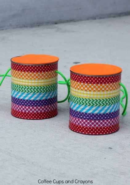 DIY Tin Can Stilts for Kids! A fun kids craft for summer!