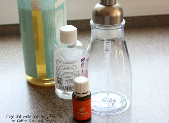 what you need to make your own foaming hand soap