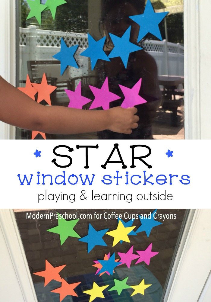 DIY Star Window Stickers for Kids to Play with! Totally reusable!