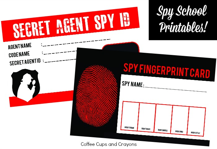 photo about Secret Agent Badge Printable named Spy Faculty Children Actions Espresso Cups and Crayons