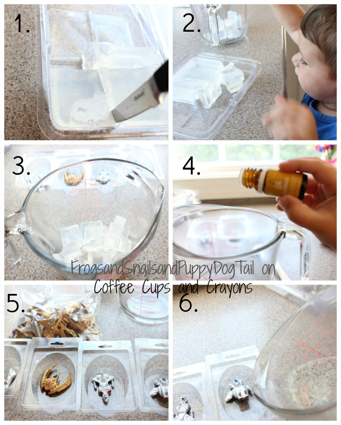 making soap with kids