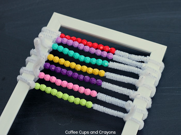 DIY Abacus for Kids--great for working on math skills!