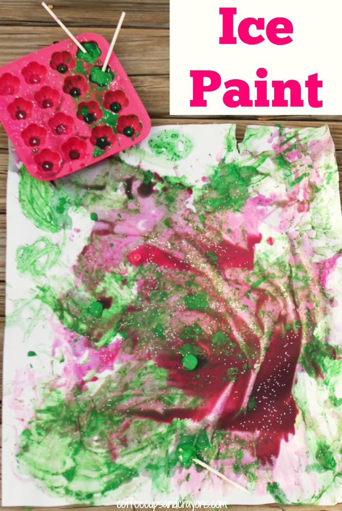 How to Make Ice Paint! A fun summer art activity for kids!