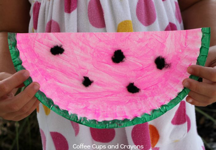 Simple Watermelon Craft for Kids