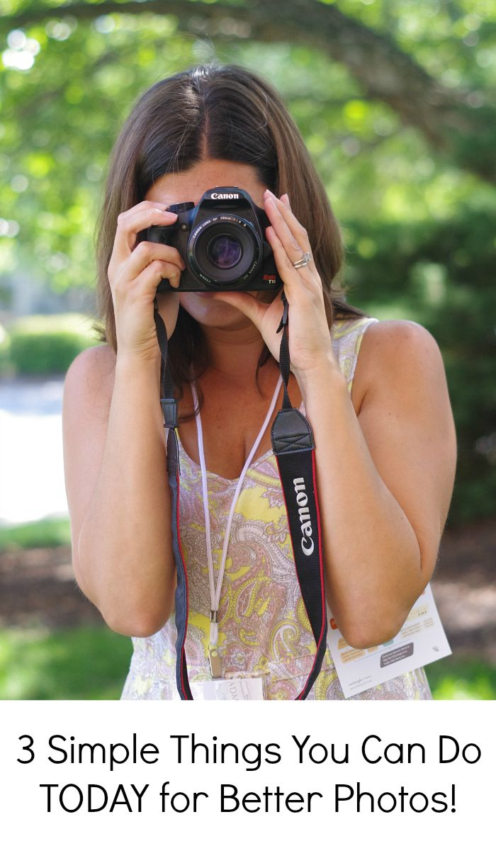3 things you can do TODAY that will help you take better pictures of your kids!