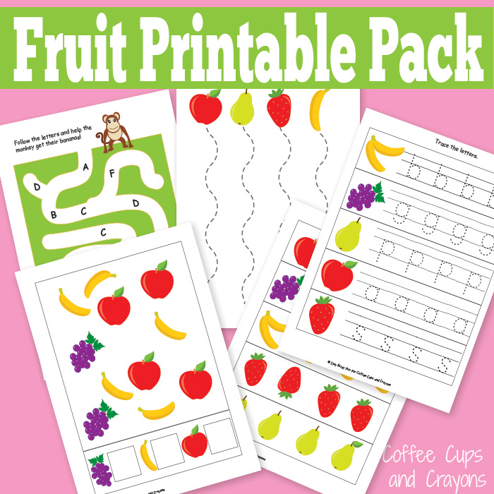 Fruit Printables for Kids