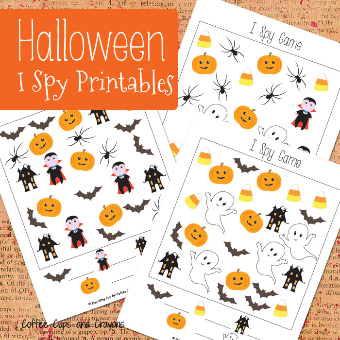 photograph relating to Halloween Printable Games called Halloween I Spy Printables Espresso Cups and Crayons