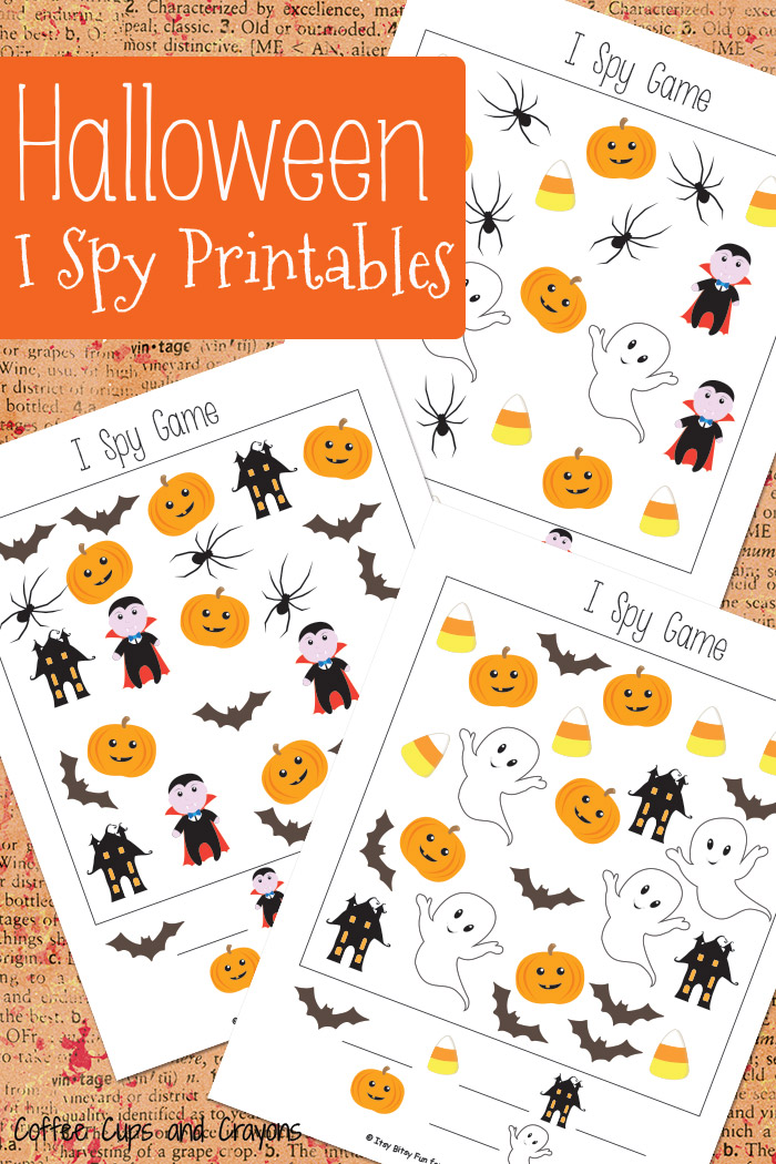 graphic regarding I Spy Printable known as Halloween I Spy Printables Espresso Cups and Crayons