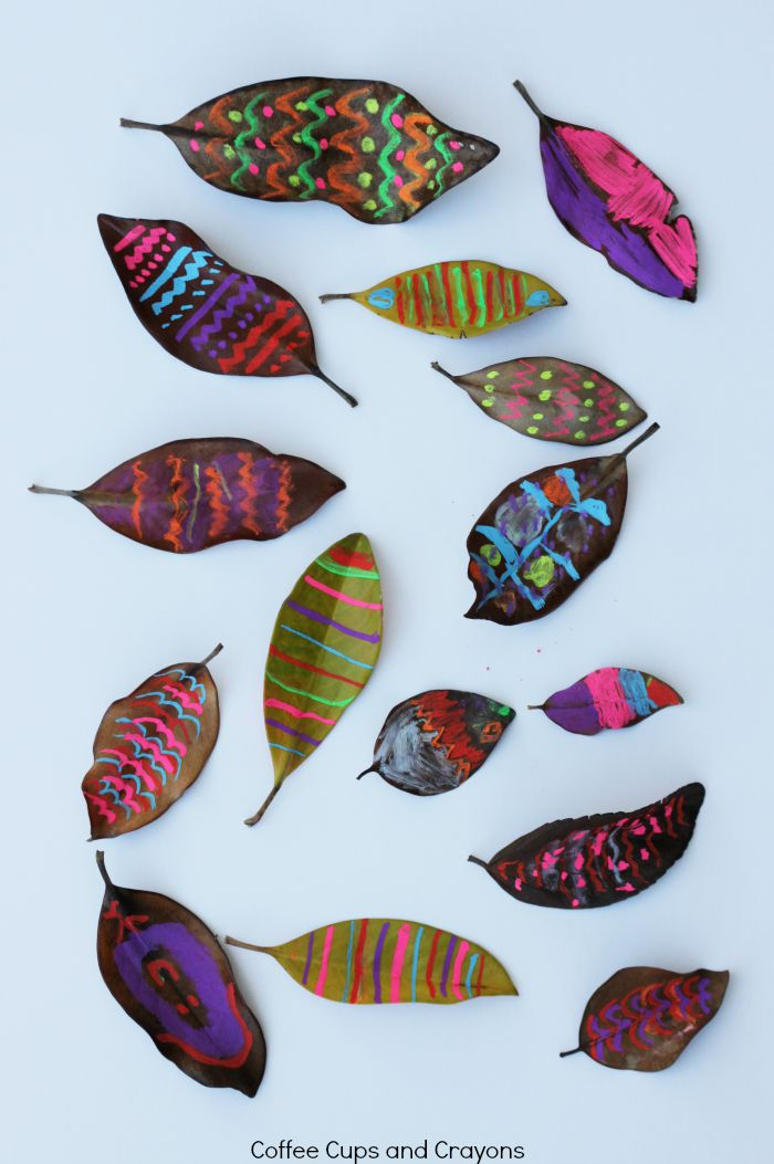 Leaf Art Activity for Kids!