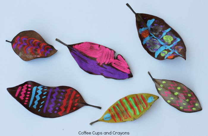 Leaf Art with Chalk Markers!