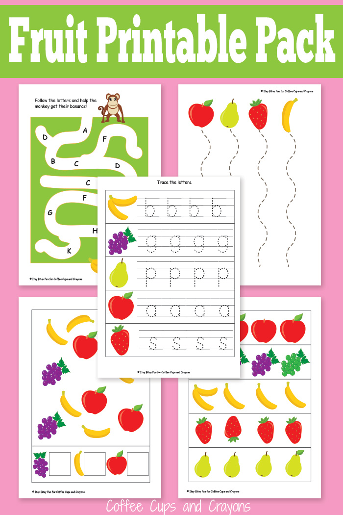 Printable Fruit Pack for Preschool
