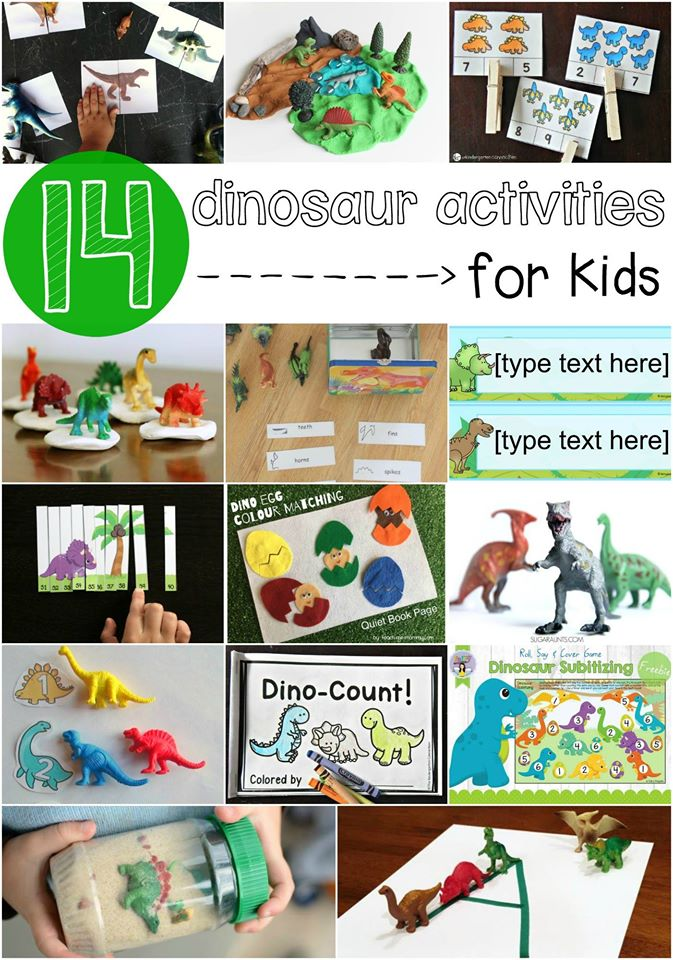 Super fun dinosaur activities and busy bags for kids!