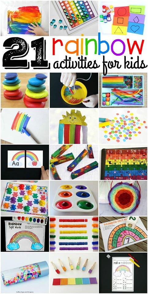 21 super fun rainbow activities and crafts for kids!