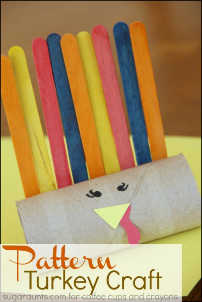 Preschool Turkey Craft for Pattern Practice!