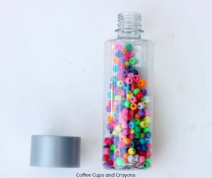 Rainbow Sensory Bottle for Preschool or Toddler Kids!
