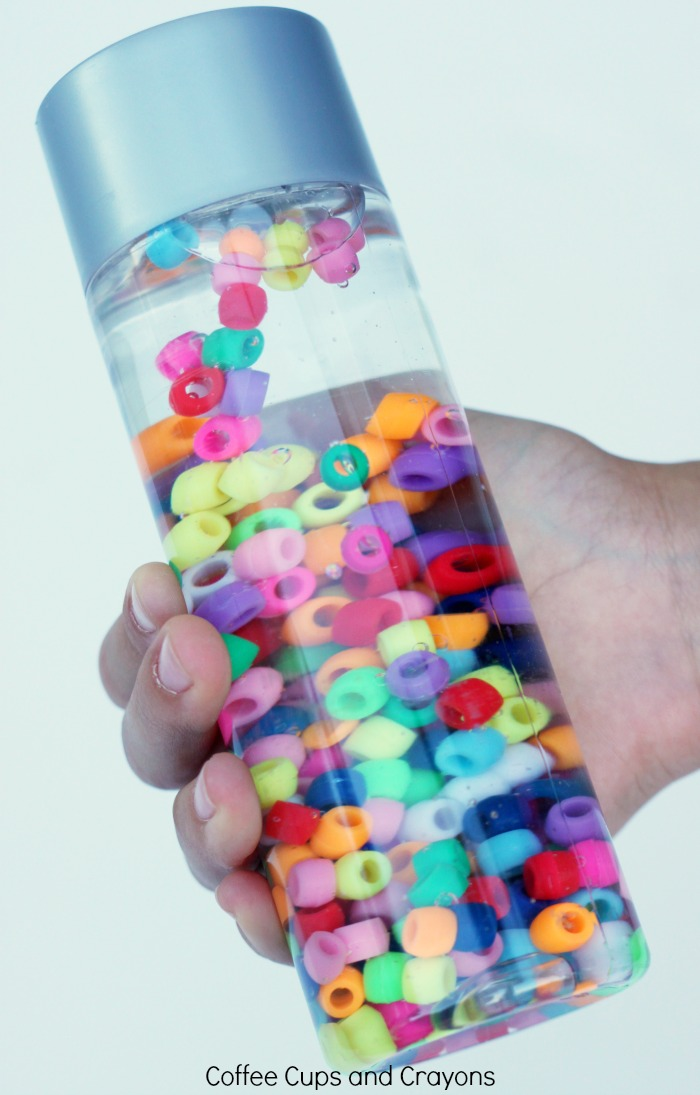 Rainbow Sensory Bottle for Preschool