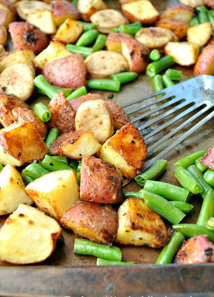 Sheet Pan Supper Sausage Green Beans Amp Crispy Potatoes