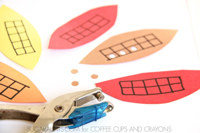 Practice Math with these ten frames and a cute turkey craft!