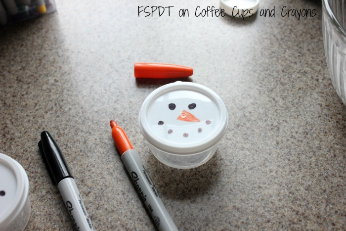 Snowman party favors