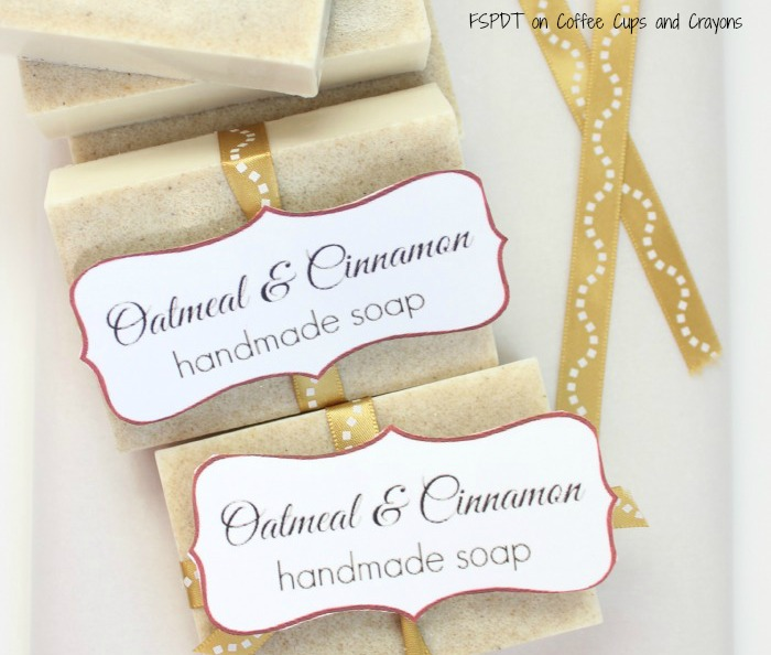 homemade soap with essential oils