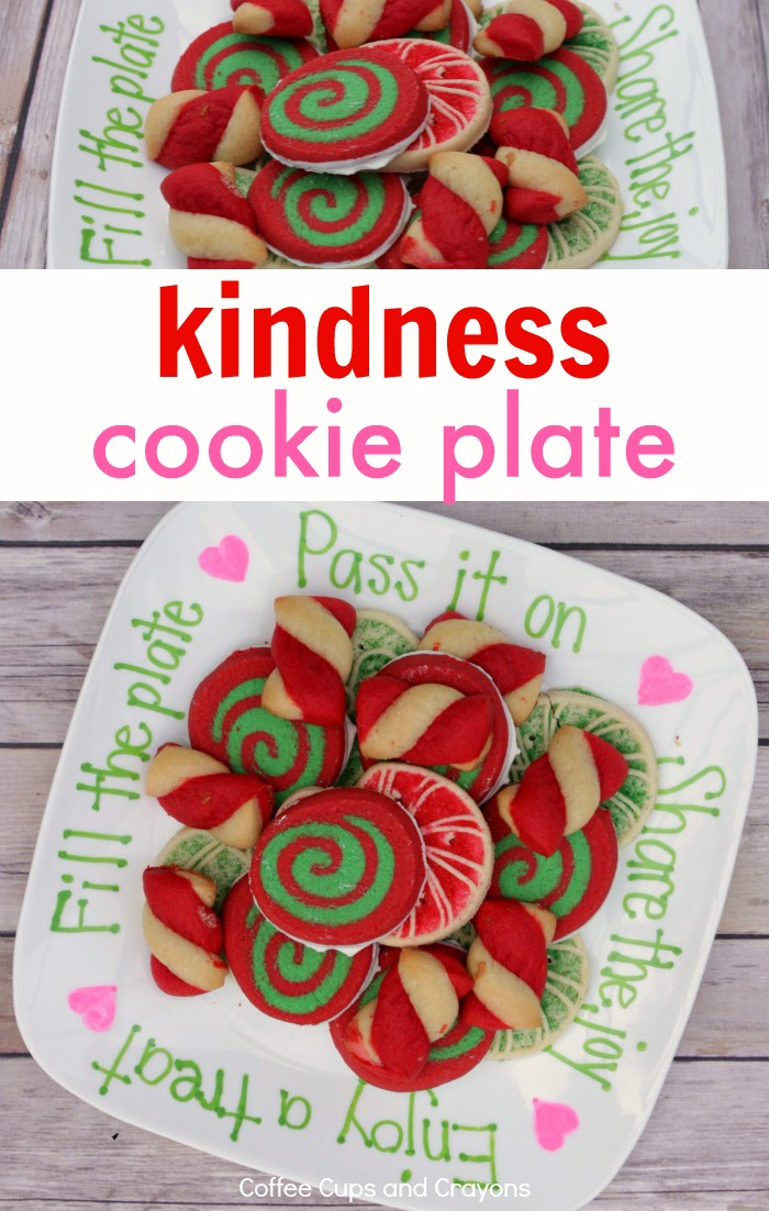 How to make a Kindness Cookie Plate. This the perfect homemade gift for neighbors and friends!