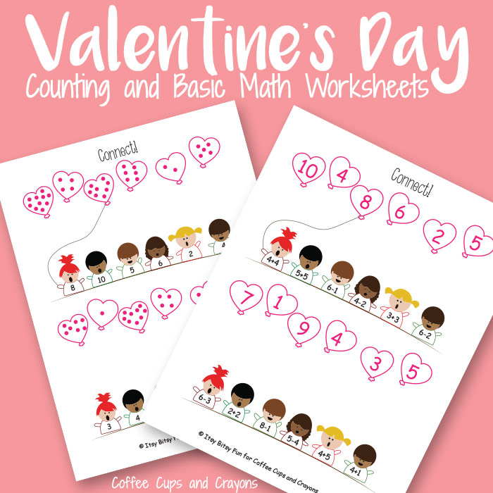image regarding Printable Kid Valentines called Valentines Working day Printable Espresso Cups and Crayons