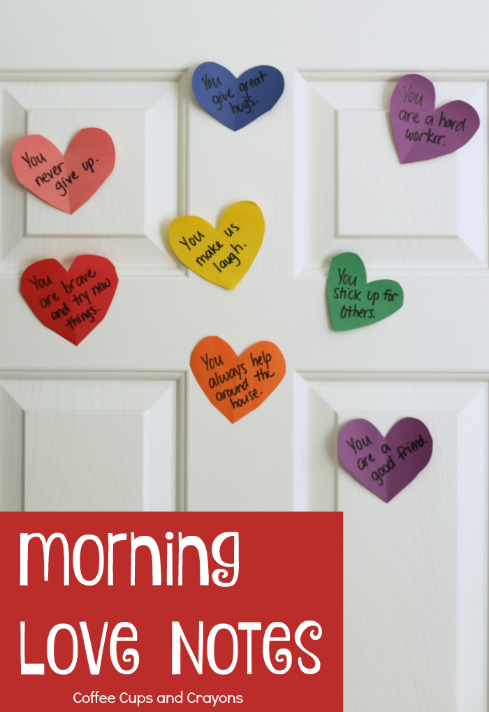 Make Your Kids Smile With Morning Love Notes Coffee Cups And Crayons
