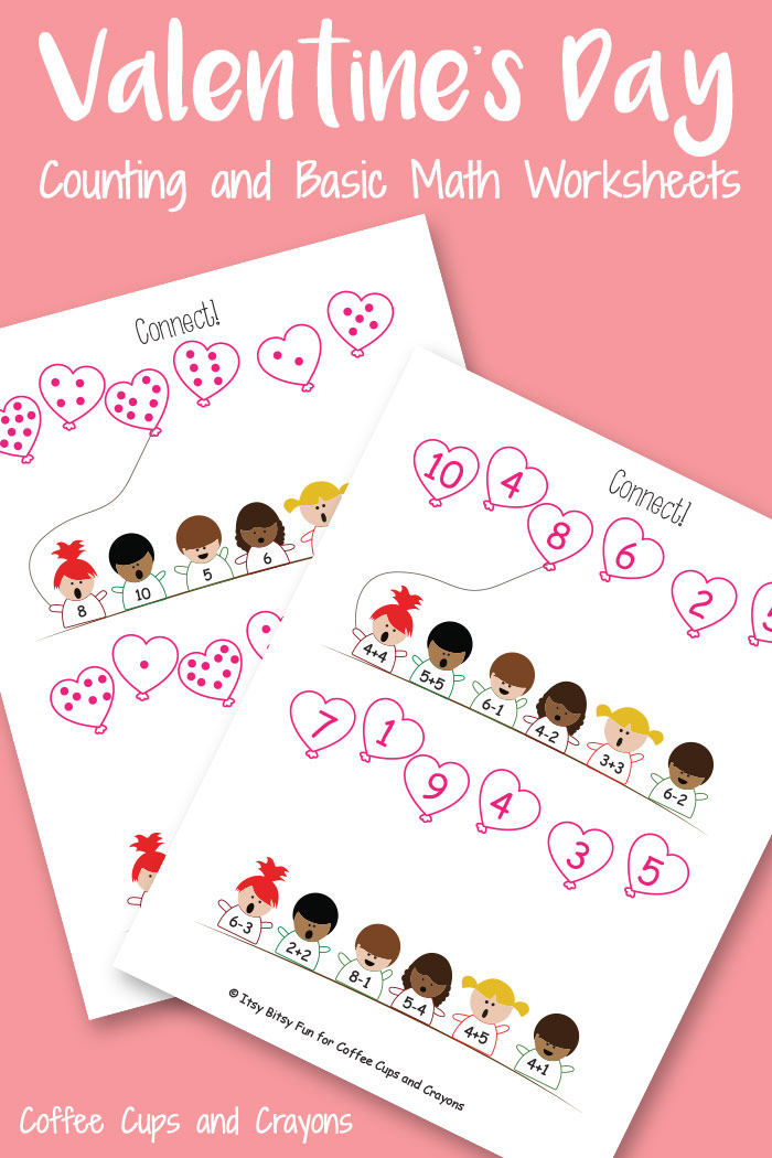 graphic regarding Printable Kid Valentines identified as Valentines Working day Printable Espresso Cups and Crayons