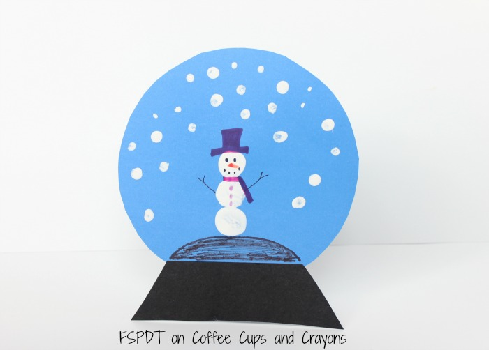 snowman snow globe craft for kids