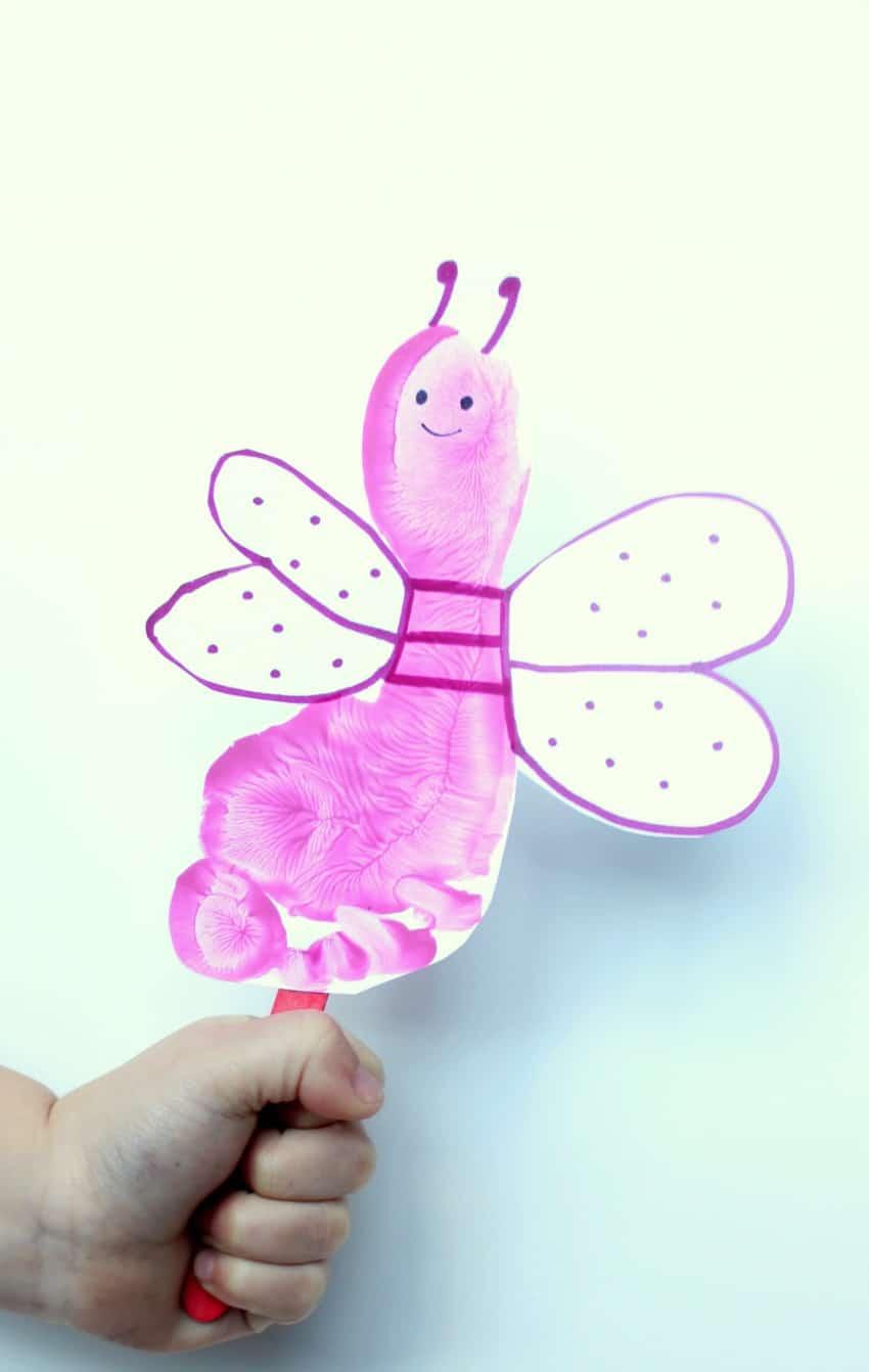 love bug footprint valentine's day craft for kids