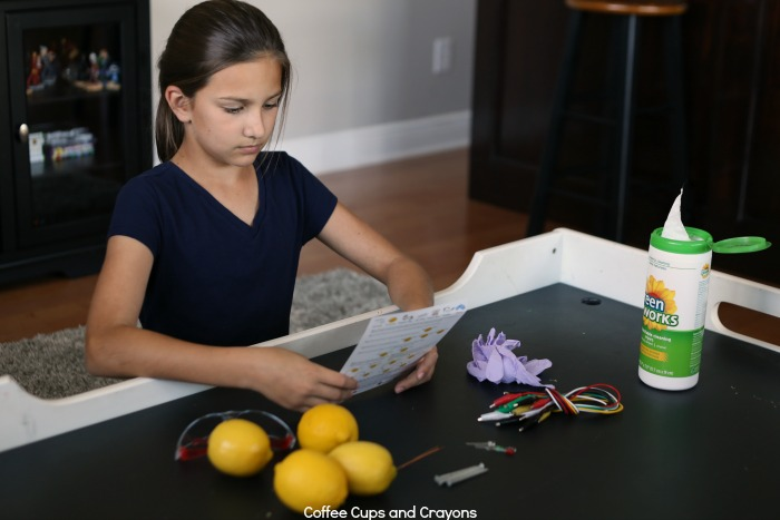 Make a lemon battery with Stem Box!