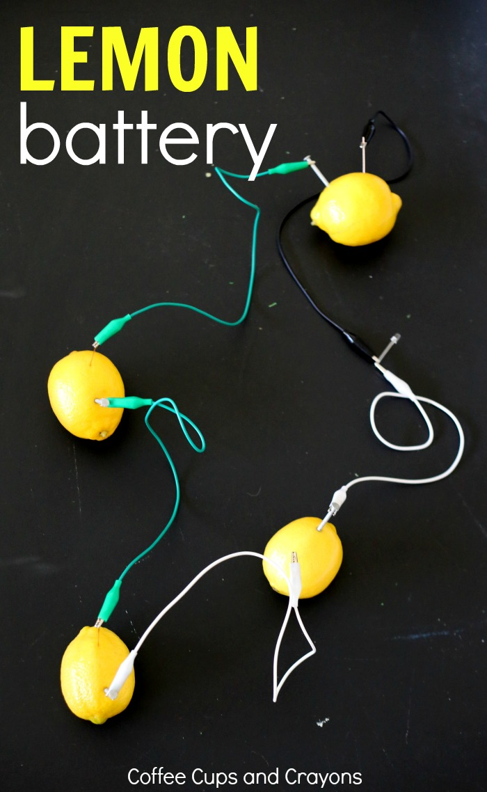 Making a lemon powered battery is such a cool STEM project for kids!
