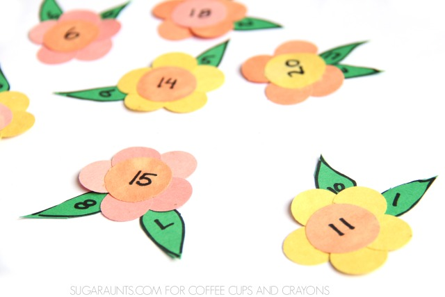this flower math activity is so fun for practicing addition and subtraction.