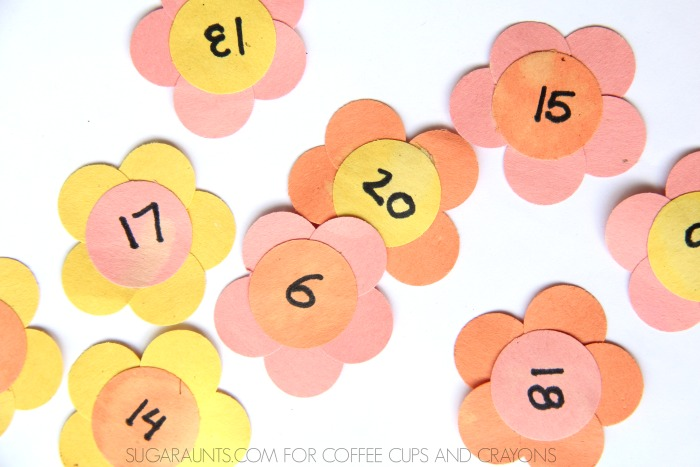 Kids will love this Spring flower math activity!