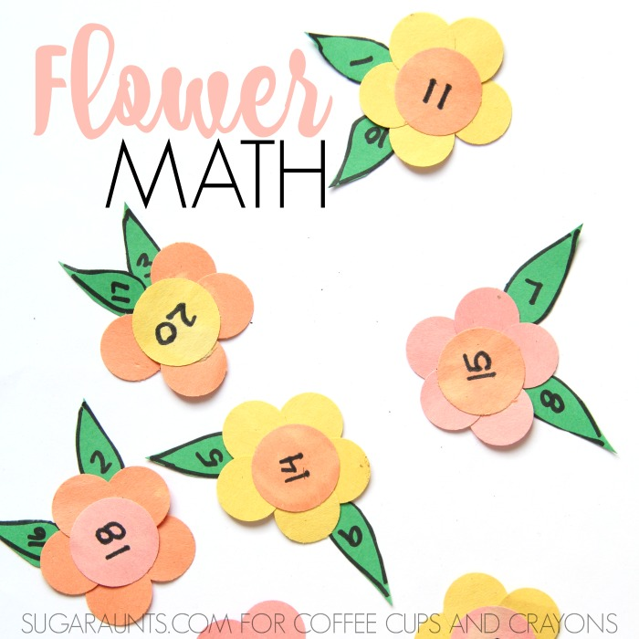 Kids will love to work on addition and subtraction with this flower math activity!