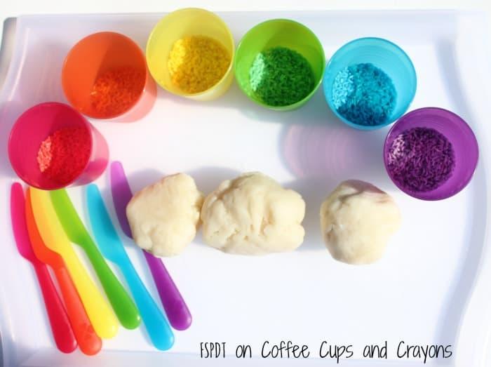 rainbow sensory play activity idea