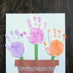 Handprint Flower Pot Craft