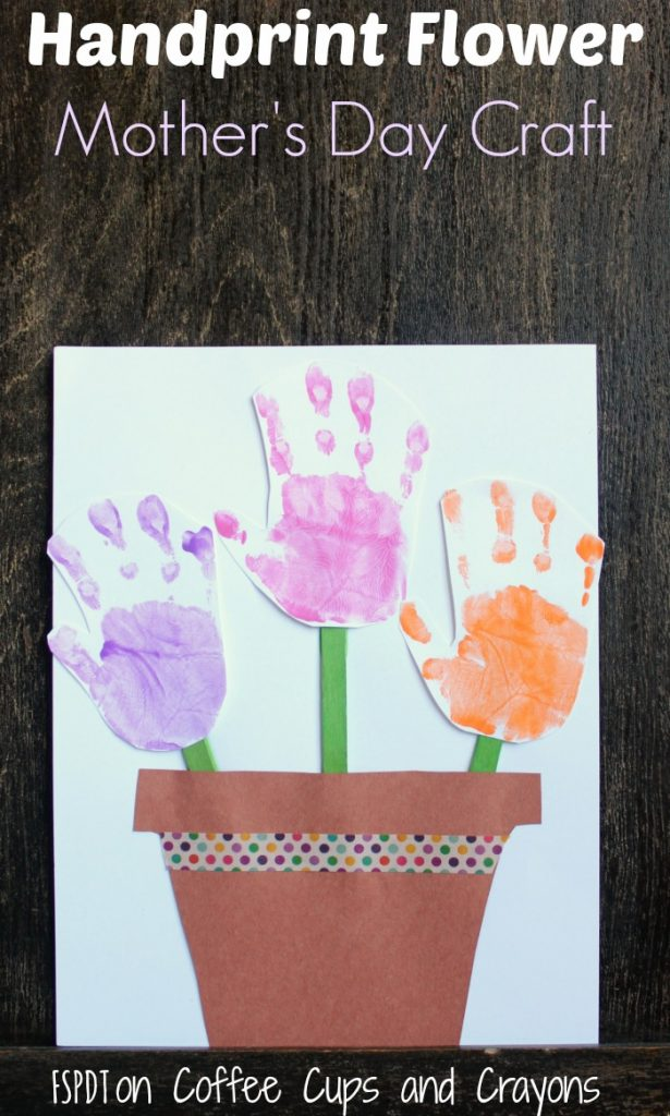 handprint flower mothers day craft 615x1024 - Mothers Day Crafts For Kindergarten