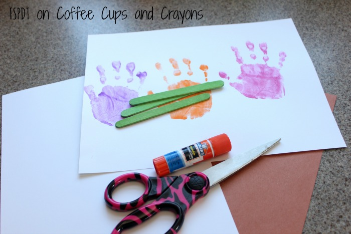 How to make a handprint flower pot craft for Mother's Day!