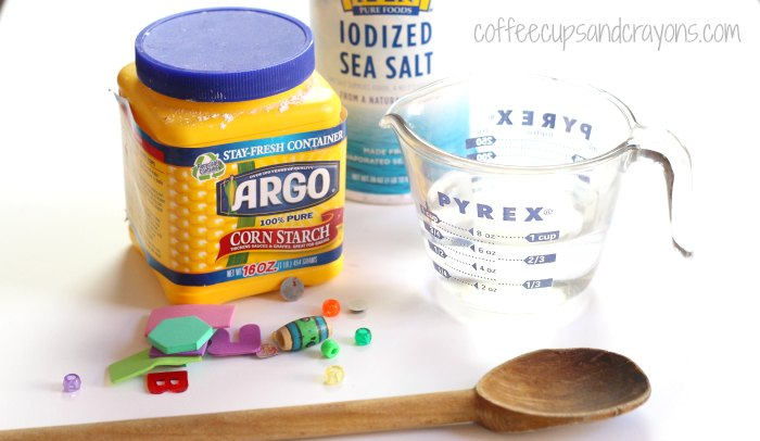How to make cornstarch salt clay!