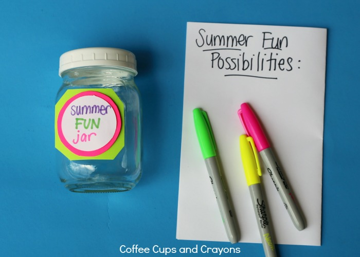Let kids pick a summer fun activity and plan how to save for it!