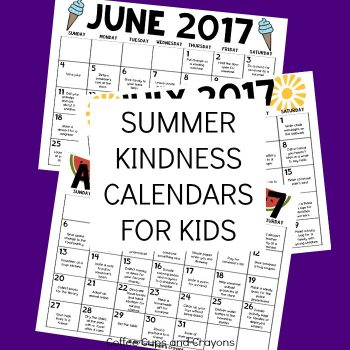 Summer Kindness Calendars for Kids