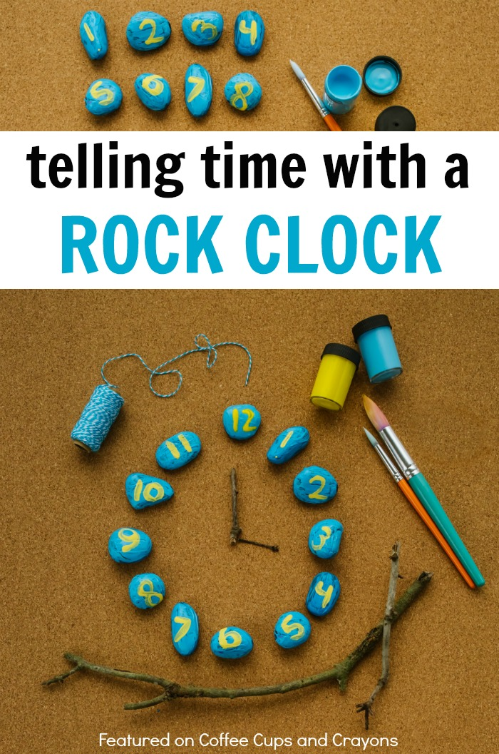 Teach Kids How to Tell Time with a Rock Clock! A fun and easy way to work on telling time!