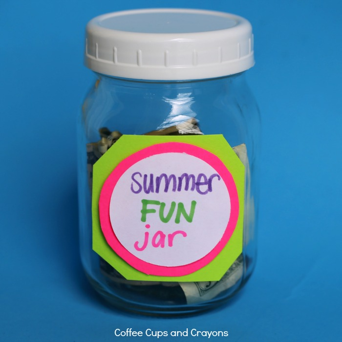 Use a Family Fun Jar to cut down on whining and teach kids about money!