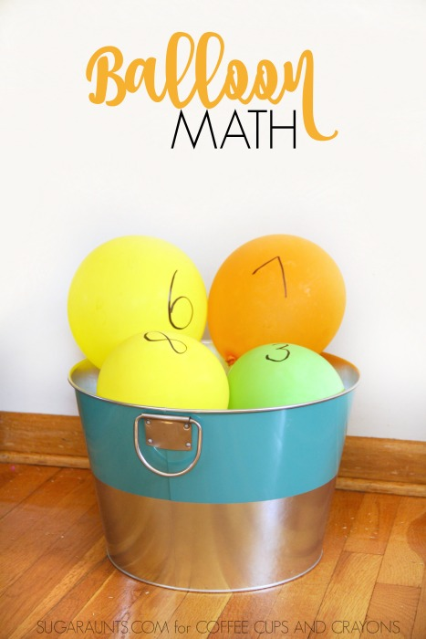 Balloon Math Activities are a fun way to add movement to learning with kids!